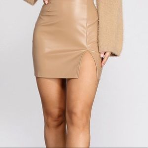 Missoni vintage leather mini skirt